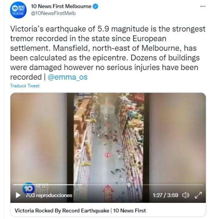 sismo en Australia