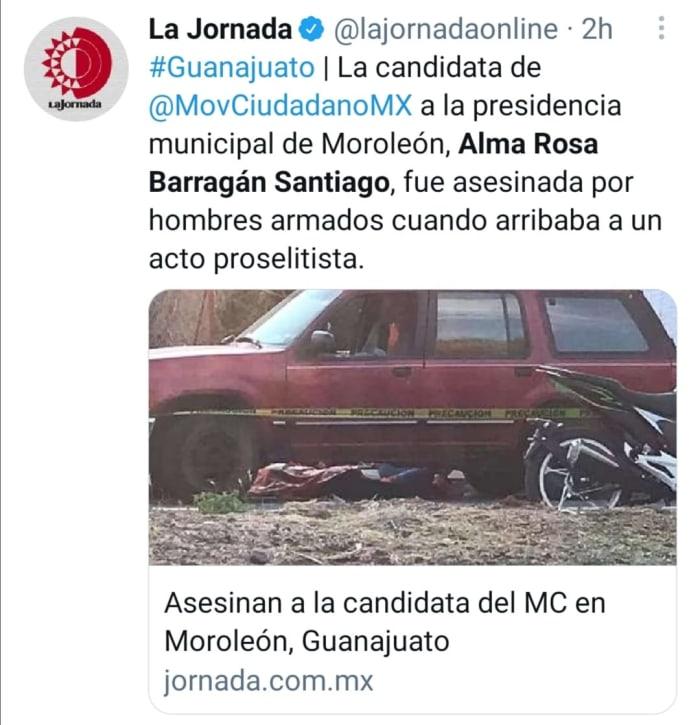 Asesinan candidata en México