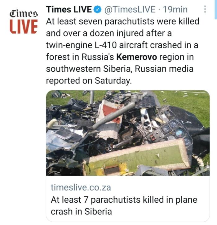 Mueren paracaidistas