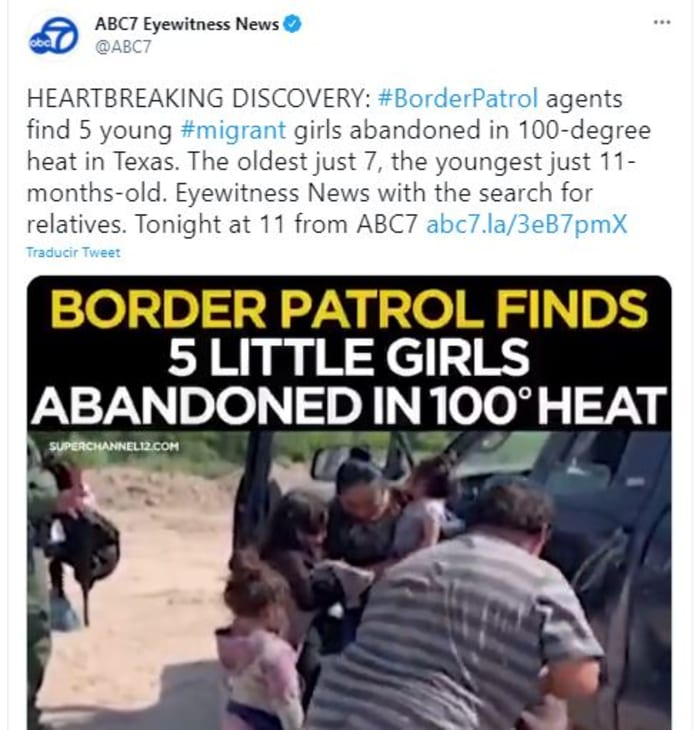 niñas migrantes abandonadas