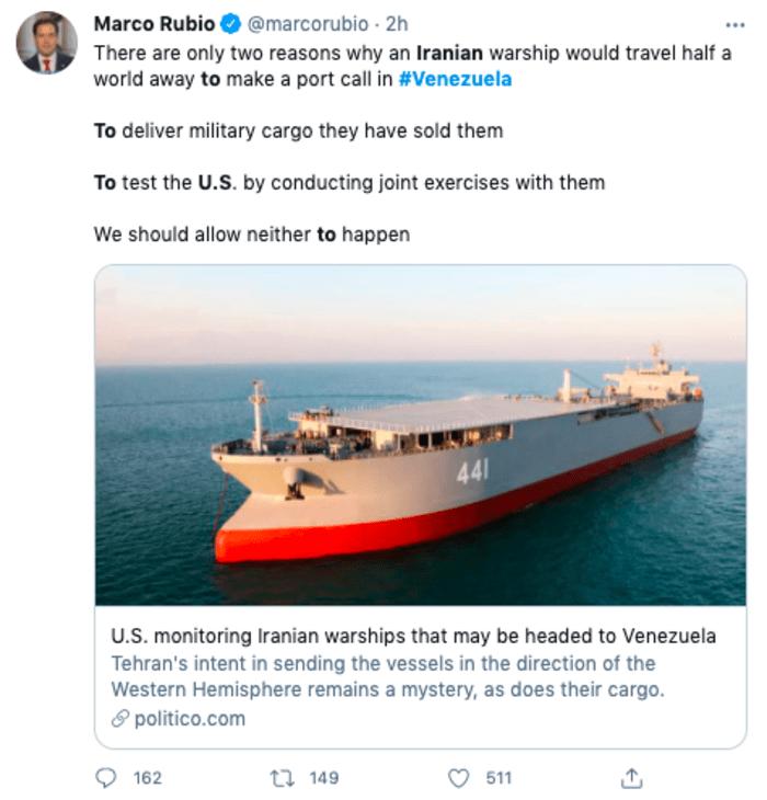 buques de guerra iraníes