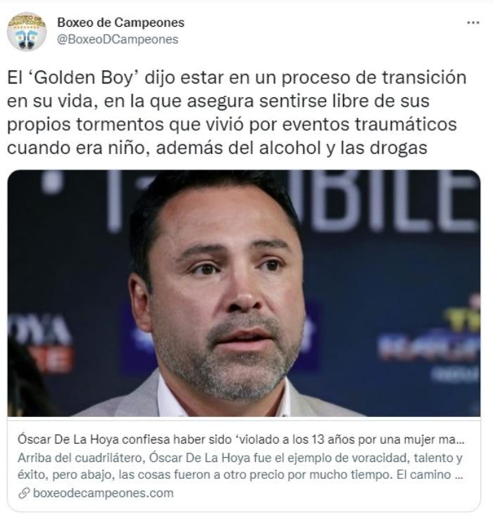 Óscar De La Hoya violación infancia