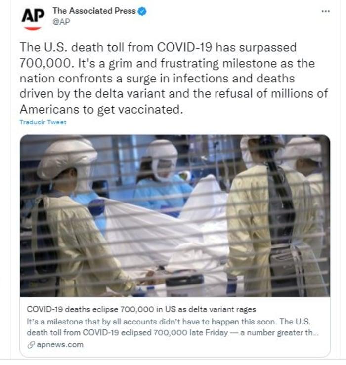 Muertes por Covid en EEUU