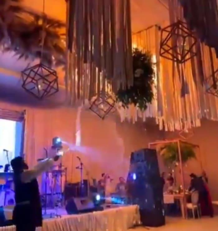 Incendio en boda