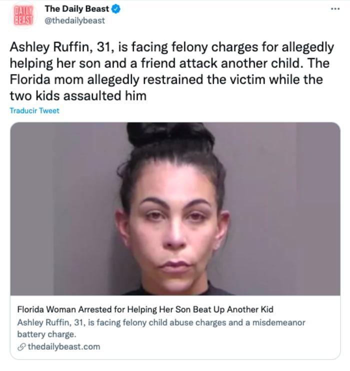 Mother arrested for