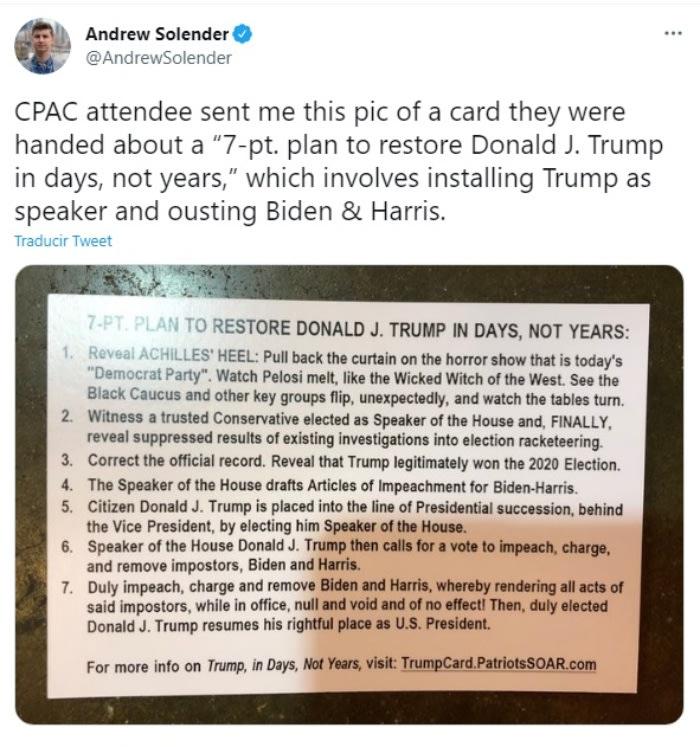 Plan Donald Trump presidency.