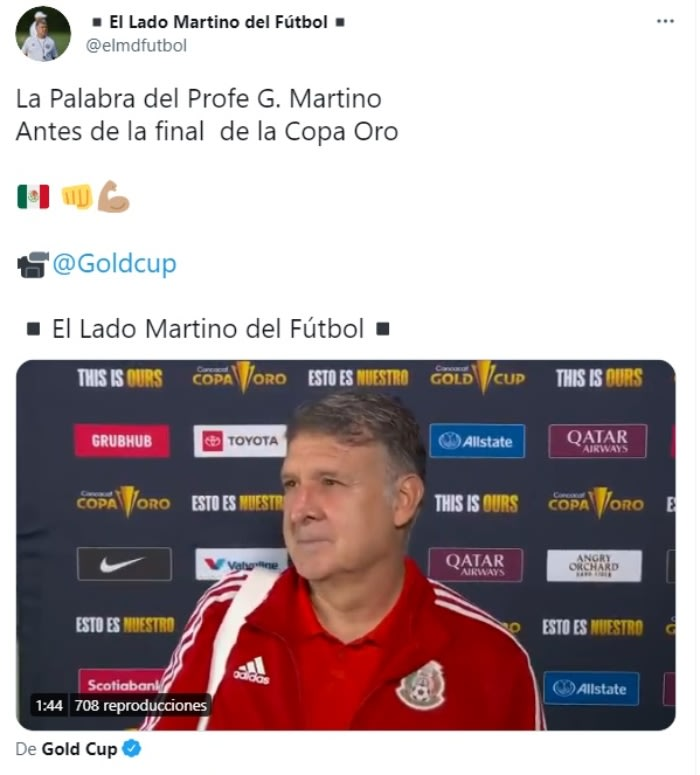 Gold Cup Final: Tata Martino spoke before the game