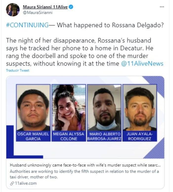 Asesinato de taxista hispana en Georgia