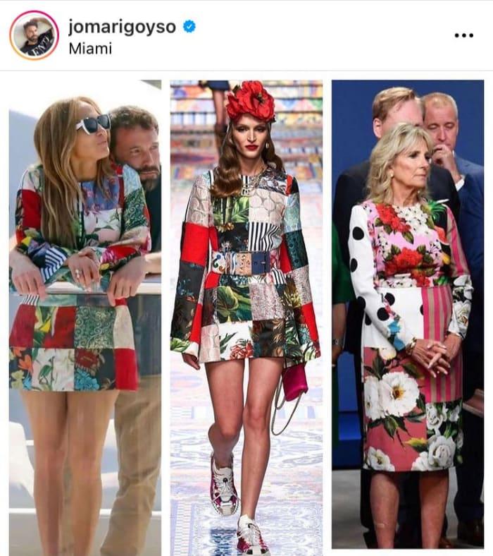 El festejo de Jennifer López utilizando un vestido muy similar al de Jill Biden