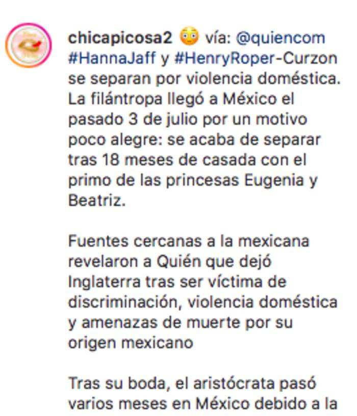 Se separa la mexicana de la realeza británica