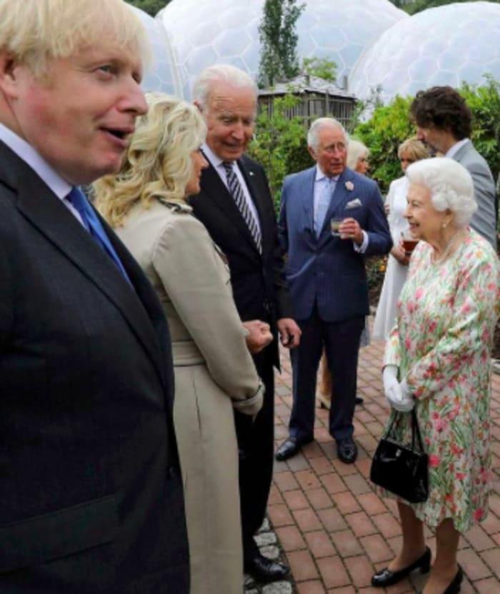 Primera Dama Jill Biden y Presidente conocen a la Reina Isabel
