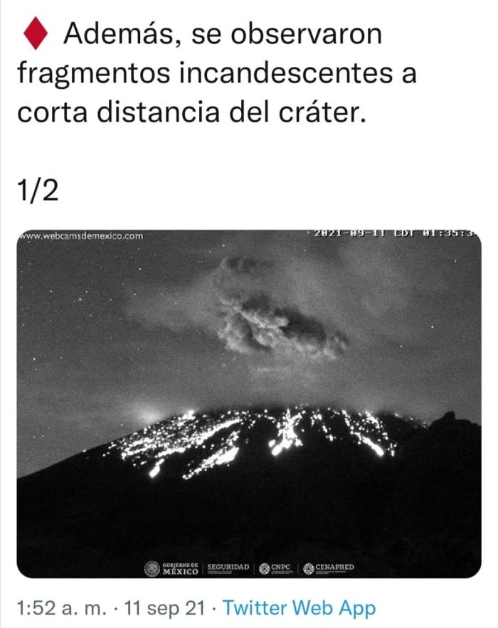 Explosion at Popocatepetl volcano