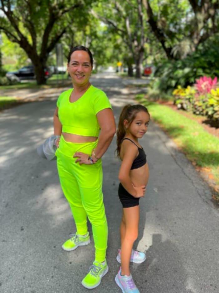 Adamari López y su hija Alaïa