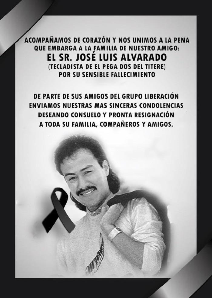Famosos expresan sus condolencias tras el fallecimiento de José Luis Alvarado