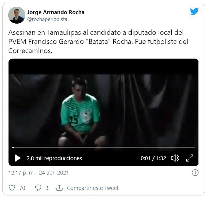 matan a exfutbolista mexicano