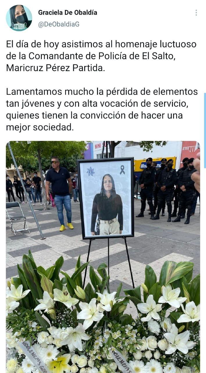 Revelan los posibles motivos del asesinato de la comandante Maricruz Pérez Partida