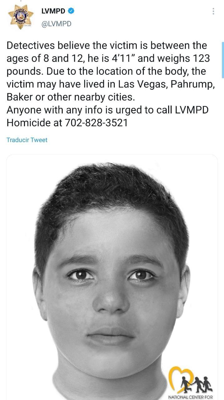 Niño muerto Las Vegas, hispano, Liam Husted, Samantha Moreno Rodríguez