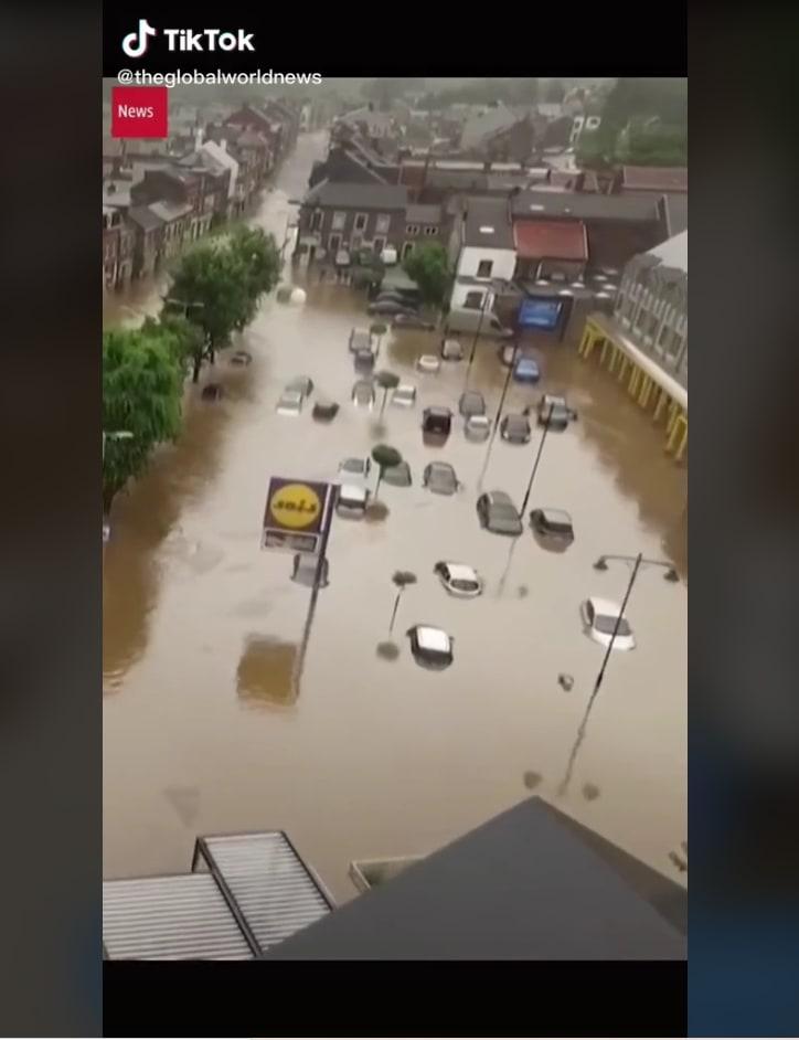 devastating flood videos Europe: A city under water