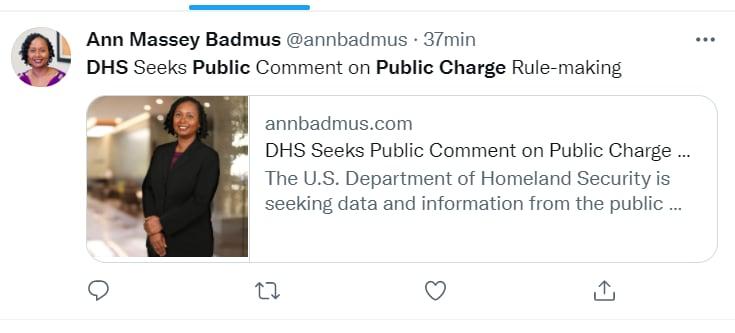 Biden Public Charge Comments: Citizen Help