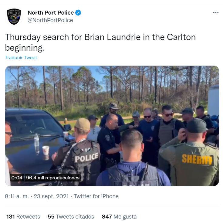 El equipo que se utiliza para la búsqueda