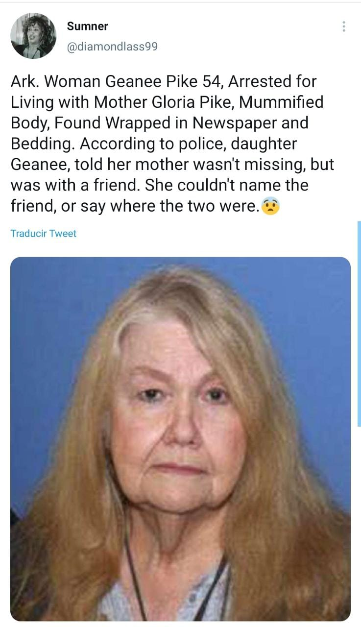 They reveal why the woman hid her own mother's body