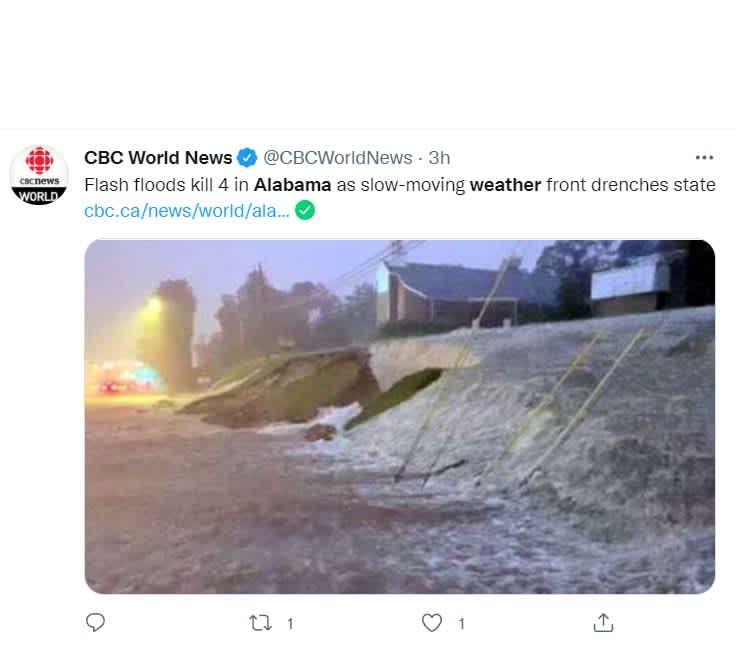Inundaciones Alabama dejan muertos: La noticia de la muerte de la menor