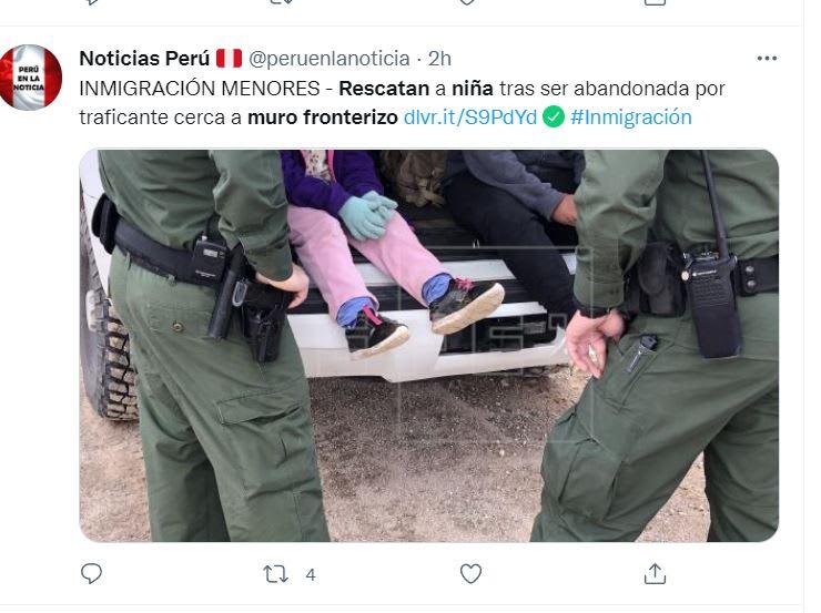 Rescatan niña muro fronterizo: Las indicaciones del contrabandista