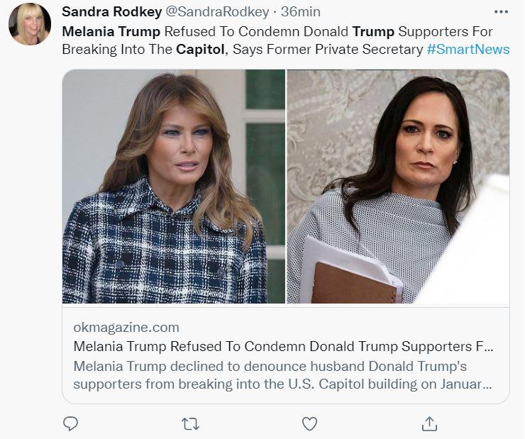 """Grisham acusación Melania Trump: """"Lo que vi en la Casa Blanca"""""""