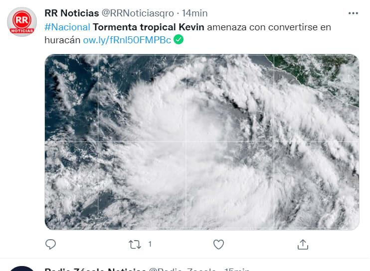 Tormenta tropical Kevin México: Afecta a Colima y Jalisco