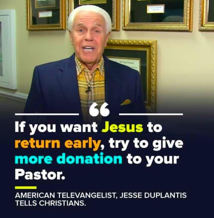 Jesse Duplantis pastor dinero