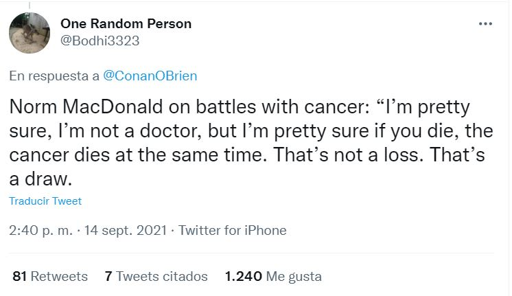 Your opinion about cancer