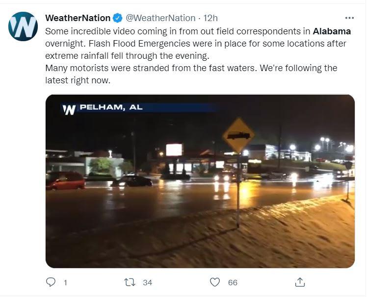 Inundaciones Alabama dejan muertos: Se registraron cuatro muertes
