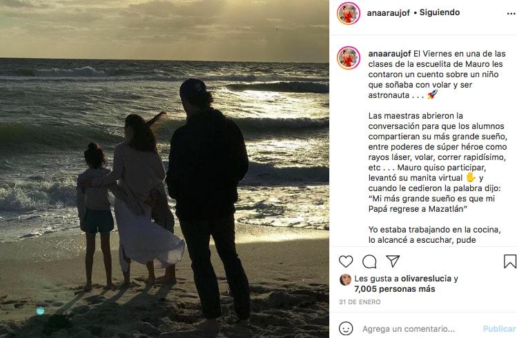 Ana Araujo sigue extrañando al actor (IG)
