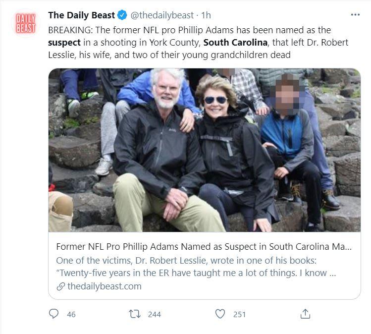 tiroteo Carolina del Sur