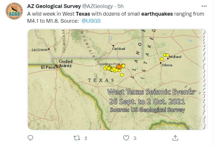 Sismos sacuden Texas Octubre: Un segundo sismo