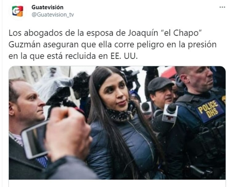 esposa del Chapo Guzmán Emma Coronel cárcel recluida 2