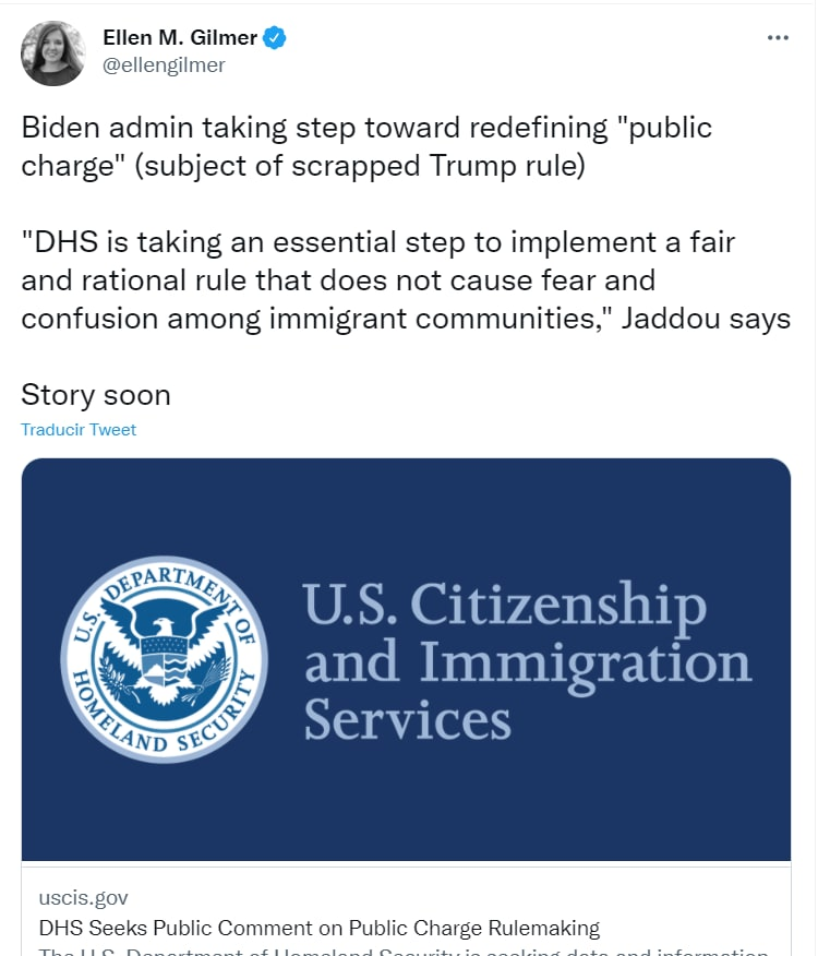 Biden Public Charge Comments: Government Asks for Comments