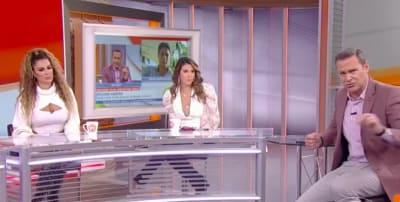 Giovanni Medina calls Alan Tacher a coward in Despierta América (IG)
