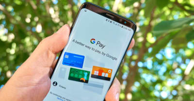 Google G Pay android app on Samsung s8 screen