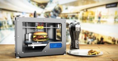Grabador de impresión 3D Grabador de impresión 3d procesado Concepto de fabricación de alimentos correcta