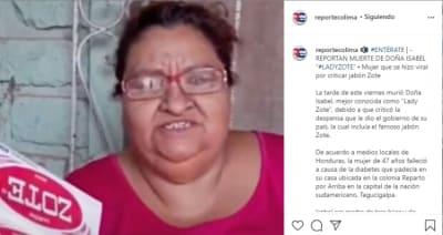 Aseguran que la polémica Lady Zote murió de coronavirus