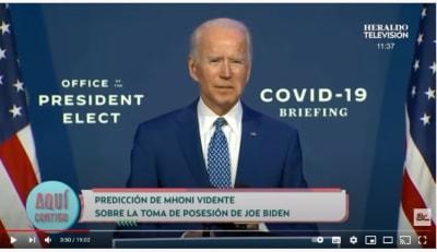 Mhoni Vidente atentado toma de posesión Biden 2