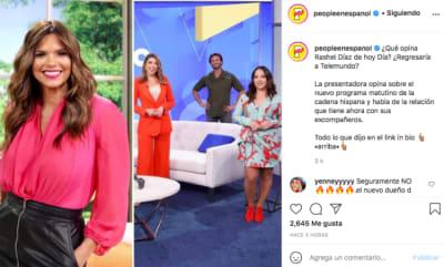 Rashel Díaz ¿regresa a Telemundo a Hoy Día? (Instagram)