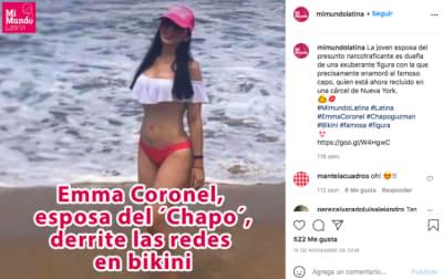 Emma Coronel sexy bikini, esposa del Chapo (Instagram)