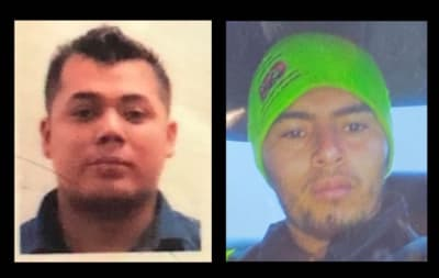 Edwin Yovany Amaya Silva and Manuel Molina Osorio are wanted in Texas, in separate cases, for sexual indecency and sexual abuse of minors.