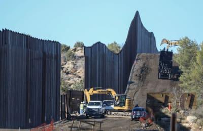 Mexicanos armados muro Trump, Donald Trump, construcción del muro fronterizo