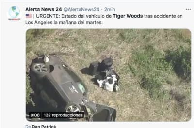 Tiger Woods is seriously injured in a car accident