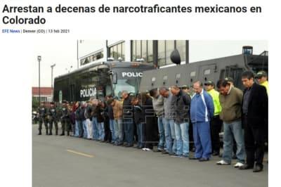 Arresto narcotraficantes mexicanos Denver