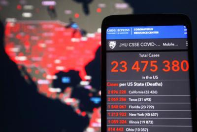 Coronavirus Cases Decrease, United States, COVID-19