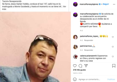 Marco Flores and the Jerez kidnapping (Instagram)